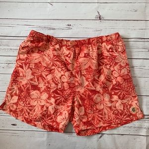 Tommy Bahama Red Floral Tropical Swim Trunk